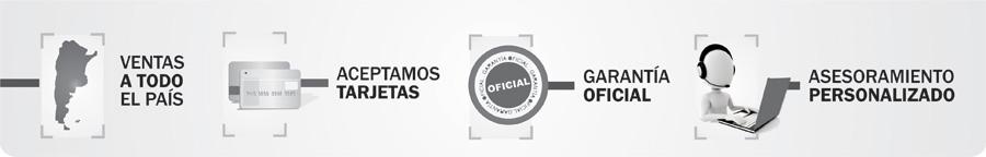 Ventas a todo el pais, aceptamos tarjetas garantia oficial asesoramiento personalizado